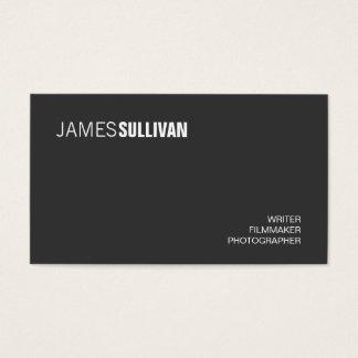 Einfaches schwarzes modernes kreatives berufliches visitenkarte