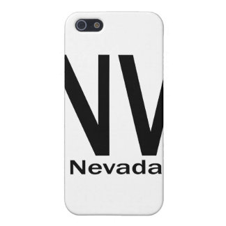 Einfaches Schwarzes Nanovolt Nevada iPhone 5 Etuis
