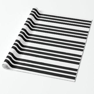 Einfaches schwarzes Streifen-Packpapier Geschenkpapier