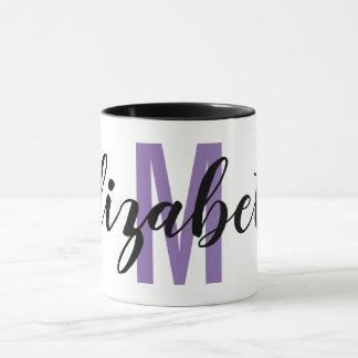 Einfaches schwarzes violettes lila tasse