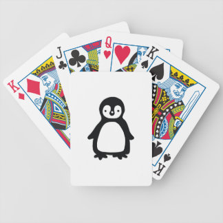 Einfaches Schwarzweiss-pinguin Bicycle Spielkarten