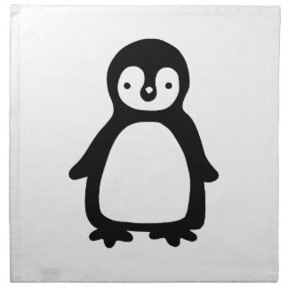 Einfaches Schwarzweiss-pinguin Serviette