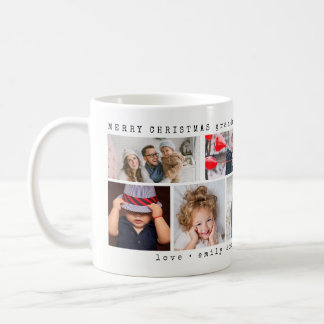 Einfaches sechs Weihnachten der Foto-Collagen-  Kaffeetasse