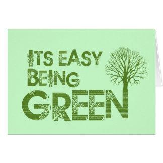 Einfaches Sein grün Karte