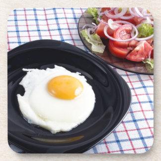 Einfaches selbst gemachtes Frühstück von den Getränkeuntersetzer