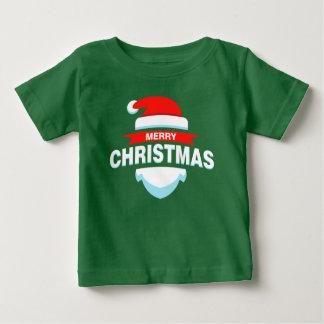 Einfaches Shirt frohe Weihnacht-Sankt  