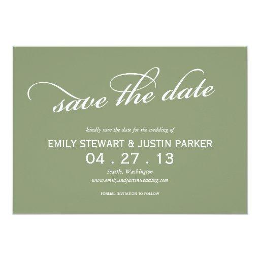 einfaches Skript Save the Date 12,7 X 17,8 Cm Einladungskarte