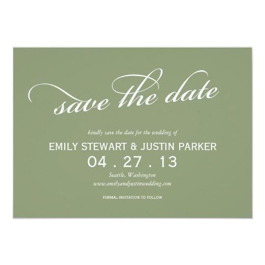 einfaches Skript Save the Date Karte