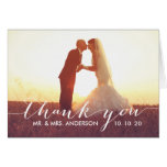 Einfaches Skript Wedding | danken Ihnen faltete Mitteilungskarte