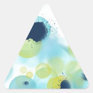 Einfaches tadelloses blaues abstraktes Muster Dreieckiger Aufkleber