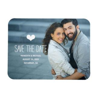 Einfaches u. des Bonbon-  Foto Save the Date Vinyl Magnet
