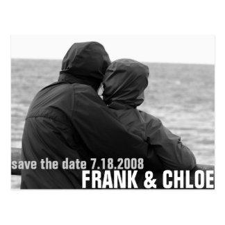 Einfaches und billiges Save the Date Annoucement Postkarte