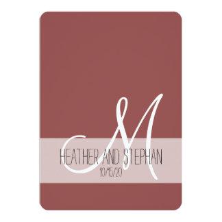 Einfaches und elegantes Marsala rotes weißes Karte