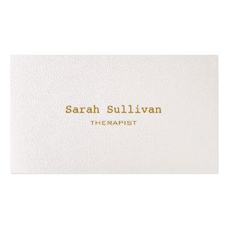 Einfaches warmes weißes elegantes berufliches visitenkartenvorlagen