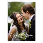Einfaches Wedding Foto der Handschrifts-| danken I Grußkarten
