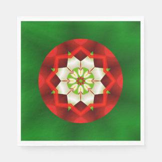 Einfaches Weihnachtskaleidoskop-Fraktal Papierserviette
