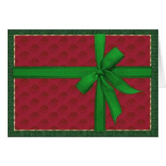 Einfaches Weihnachtspaket Karte