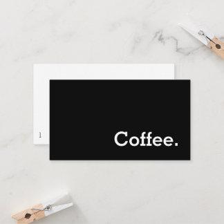 Einfaches Wort-dunkle Loyalitäts-Kaffee-Lochkarte Treuekarte
