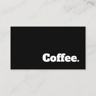 Simple Word Dark Loyalty Slab Coffee Punch-Card