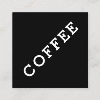 Simple Word Dark Loyalty Coffee Punch-Card Angle