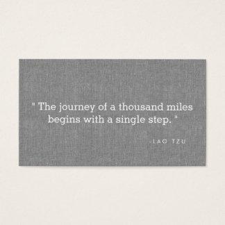 Einfaches Zitat auf grauen Leinenautoren, Visitenkarten