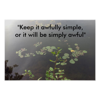 Einfachheit Poster