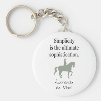Einfachheits-Zitat mit Dressage-Pferd Schlüsselanhänger