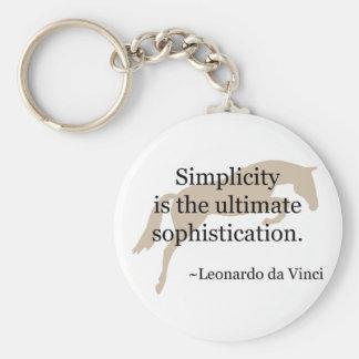 Einfachheits-Zitat mit Pullover-Pferd Schlüsselanhänger