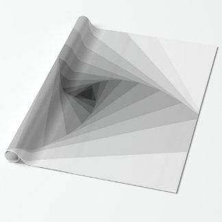 Einfarbige dreieckige abstrakte geometrische geschenkpapier
