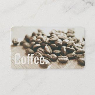 Einfarbige Kaffeebohnen einfache Oswald Lochkarte Treuekarte