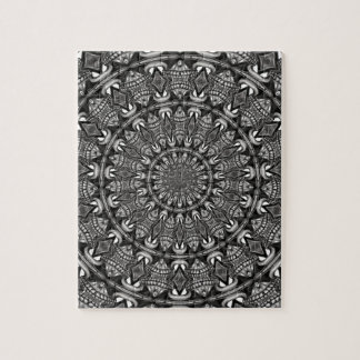 Einfarbige Mandala Puzzle