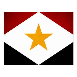 Einfarbige Saba Flagge Postkarte