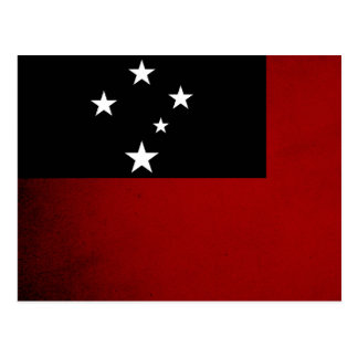 Einfarbige Samoa-Inseln Flagge Postkarte