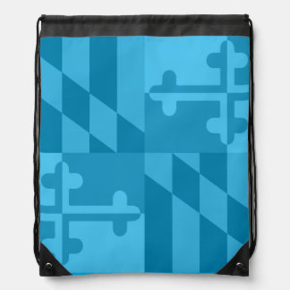 Einfarbige Tasche Maryland-Flagge - Blau Sportbeutel