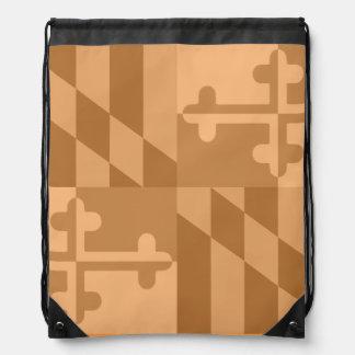 Einfarbige Tasche Maryland-Flagge - Gelb/Orange Turnbeutel