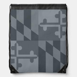 Einfarbige Tasche Maryland-Flagge - Grau Turnbeutel