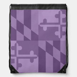Einfarbige Tasche Maryland-Flagge - lavander Turnbeutel