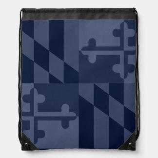 Einfarbige Tasche Maryland-Flagge - Marineblau Turnbeutel