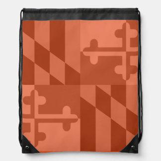 Einfarbige Tasche Maryland-Flagge - Orange Turnbeutel