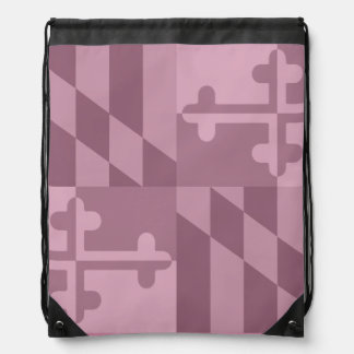 Einfarbige Tasche Maryland-Flagge - Rosa Turnbeutel