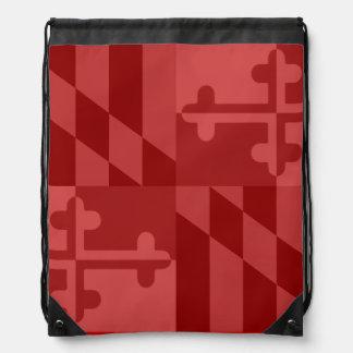 Einfarbige Tasche Maryland-Flagge - Rot Turnbeutel