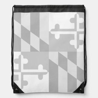 Einfarbige Tasche Maryland-Flagge - Weiß Sportbeutel