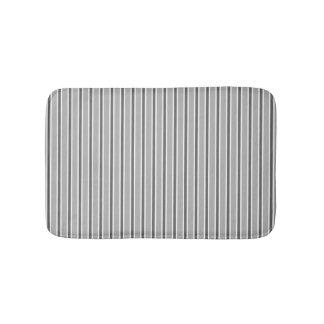 Einfarbiger grauer Streifen-Entwurf - Bad-Matte Badematte
