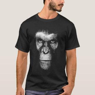 Einfarbiges Affen-Gesicht T-Shirt