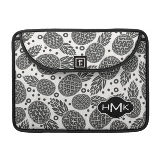 Einfarbiges Monogramm der Ananas-| MacBook Pro Sleeve