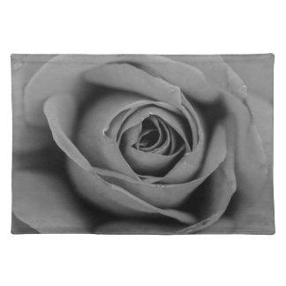 Einfarbiges Rosen-Stoff-Tischset Stofftischset