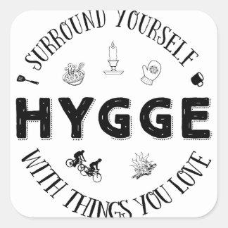 Einfassung sich W. Hygge (B&W) Quadratischer Aufkleber