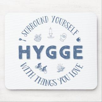 Einfassung sich W. Hygge (dunkelblauer Text) Mauspads