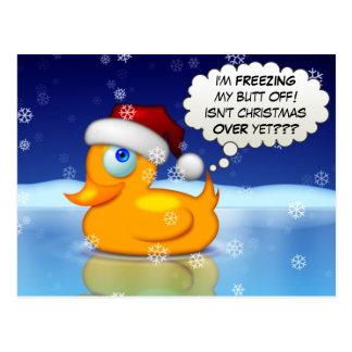 Einfrierende Sankt-Ente Postkarte