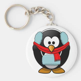 Einfrierender Pinguin Keychain Schlüsselanhänger